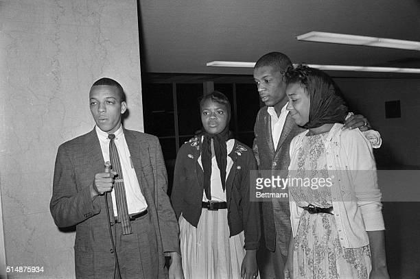 Four AfricanAmerican Freedom Riders David Dennis Julia Aaron Jerome H Smith and Doris Castle return to New Orleans after posting bond and being...