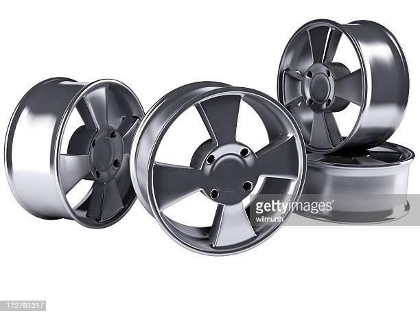 Four alloy car rims
