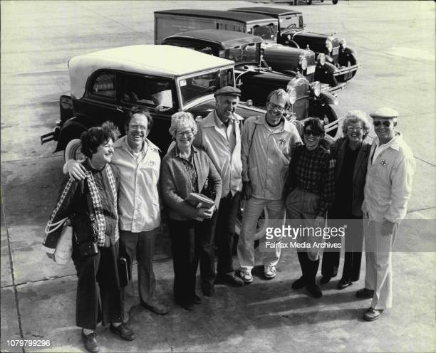 Four American couples who have driven around the world in their vintage and veteran FordsLeft to right Diane and Bruce Davis Dotty and Bob Meyer Kurt...