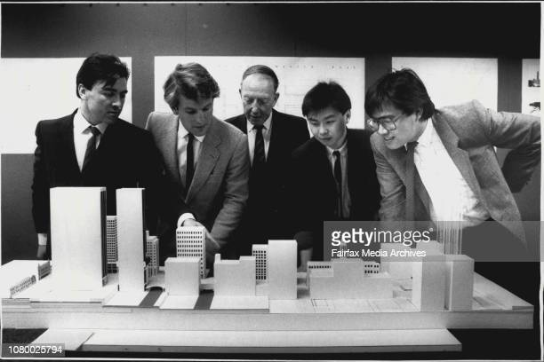 Four architectural students and their proof at the Uni of NSW have designed new proposals for Martin PlaceLeft to right Jorge Hrdina John Marshall...