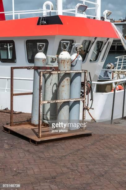 four argon gas cylinder