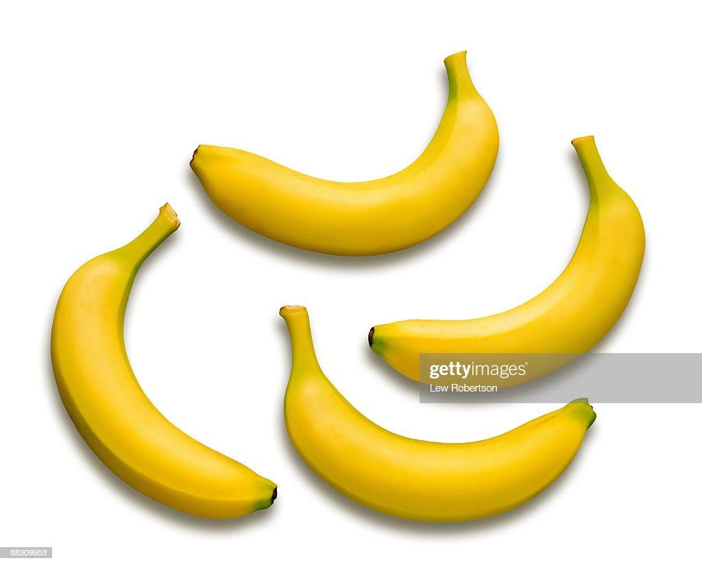 four bananas : Stock Photo