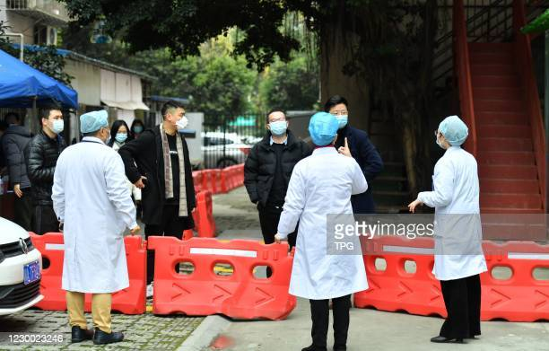 Four bars are closed as a 20 years old girl who infected COVID-19 had visited in one night on 08th December, 2020 in Chengdu,Sichuan,China