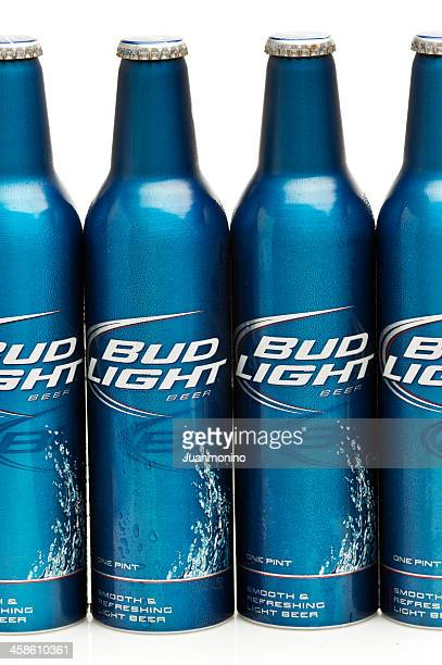 four bottles of bud ligth beer - bud light stock pictures, royalty-free photos & images