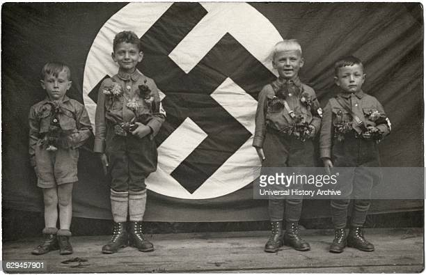 Four Boys Hitler Youth Germany circa 1935
