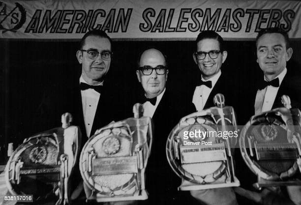 Four Champions of Salesmanship Oscars of Salesmanship were presented Thursday night to from left Rowe Rudolph Jr of Connecticut General Life...