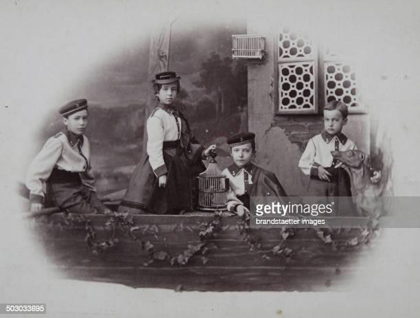 Four children - probably the children of Franz Ferdinand; Otto Franz Joseph; Ferdinand Karl Ludwig and Margarete Sophie / children of Archduke Karl...