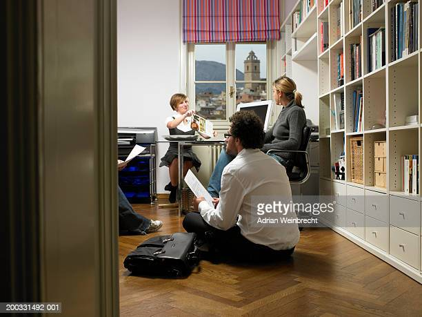Four colleagues having meeting