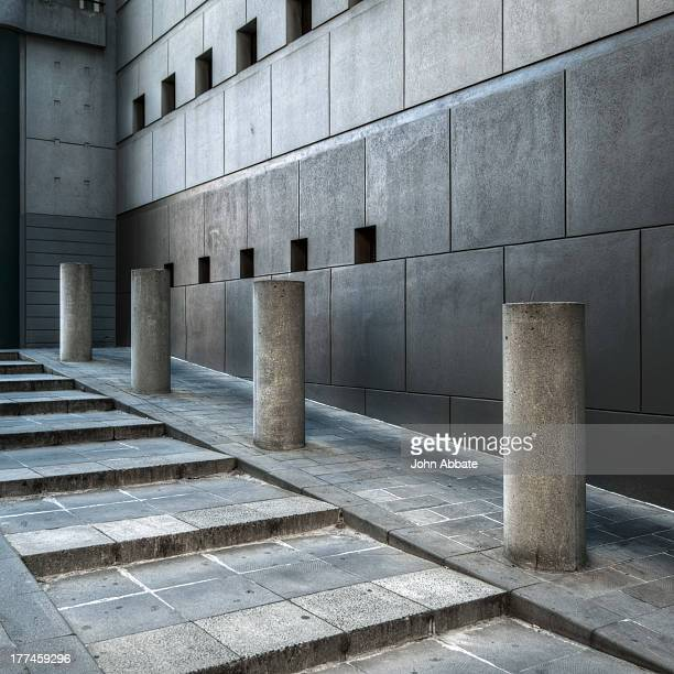 Four Concrete Plinths