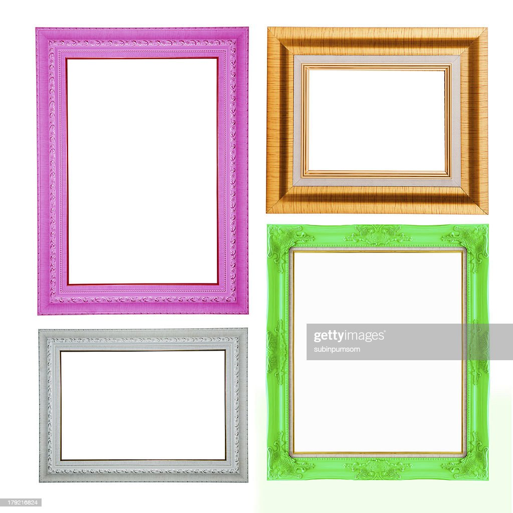 Four Contemporary Picture Frames In High Resolution Vibrant Colo ...