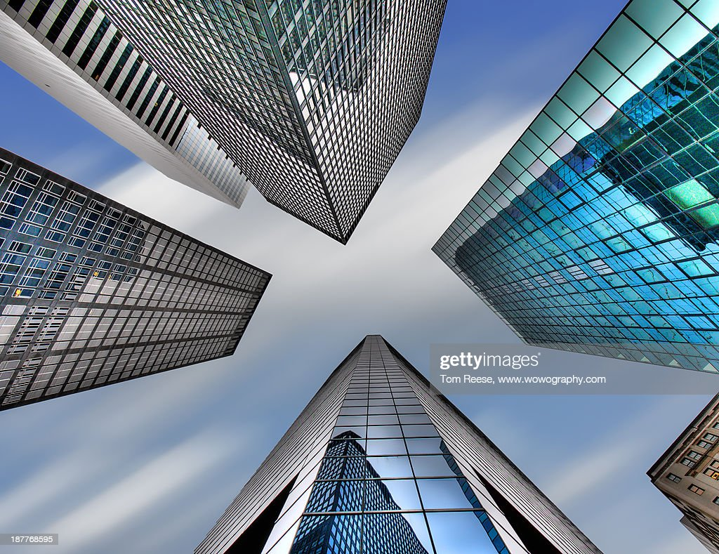 Four Corners, New York City : Stock Photo