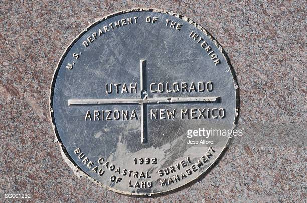 four corners - us state border stock photos and pictures