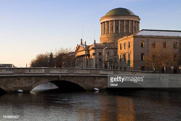 four courts - dublin republic of ireland stock pictures, royalty-free photos & images