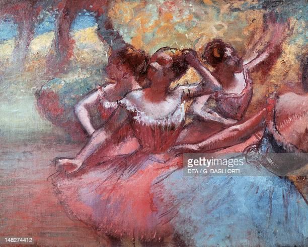 Four dancers on stage by Edgar Degas San Paolo Museu De Arte De Sao Paulo