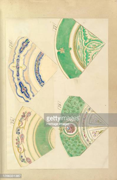 Four Designs for Decorated Plates 184555 Artist Alfred Crowquill