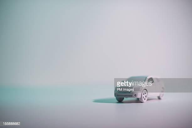 Four door sedan painted white