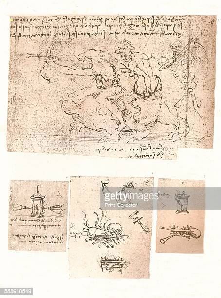 Four drawings of allegorical representations c1472c1519 From The Literary Works of Leonardo Da Vinci Vol 1 by Jean Paul Richter PH DR [Sampson Low...