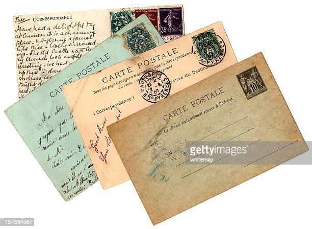 Quatre français de cartes postales