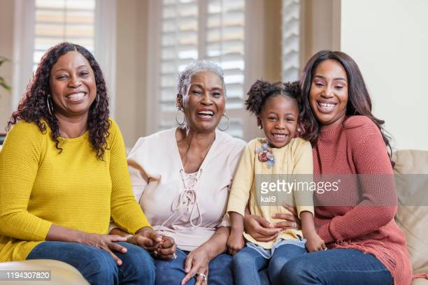 four generation african-american family - great grandmother stock pictures, royalty-free photos & images