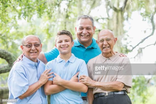 Four generation Hispanic family