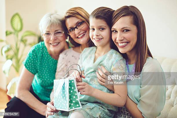 Four generations celebrating the Mother's day