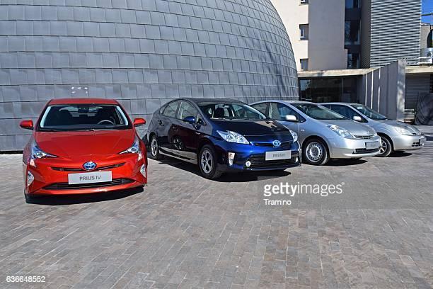 Four generations of Toyota Prius vehicles