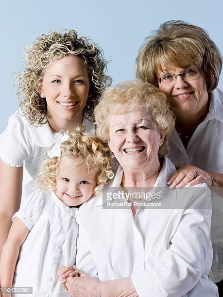 four generations of women