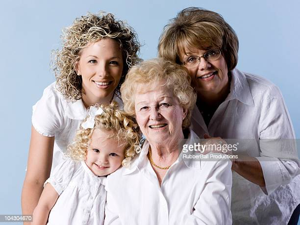four generations of women - great granddaughter stock photos and pictures