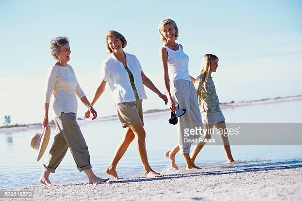 Four Generations on Beach