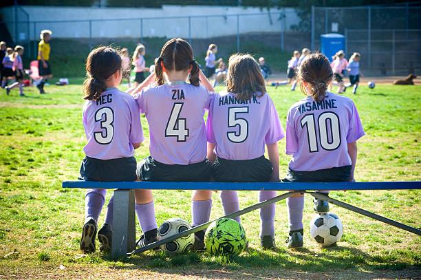 four girls 8 on the bench at soccer game picture id94106831?k=6&m=94106831&s=612x612&w=0&h=HQpbQSu0mi ywMZWqaxyjyRu0guOpfp4br sflWlNUE=