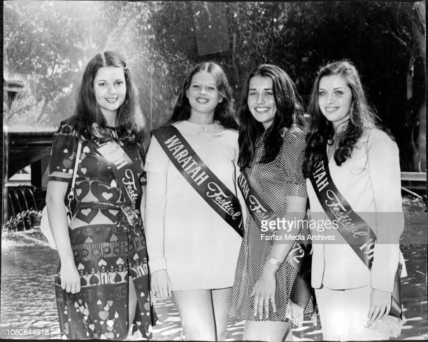 Four girls were picked L to R Roberta Newman 19 of Randwick Julie White 18 of Hurstville Anna Sochan 19 of Strathfield and Elizabeth Grant of...