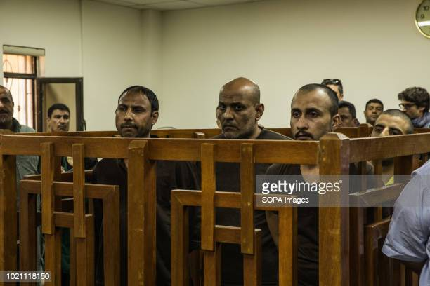 Four ISIS members seen attending trial at the Central penal Court in Baghdad