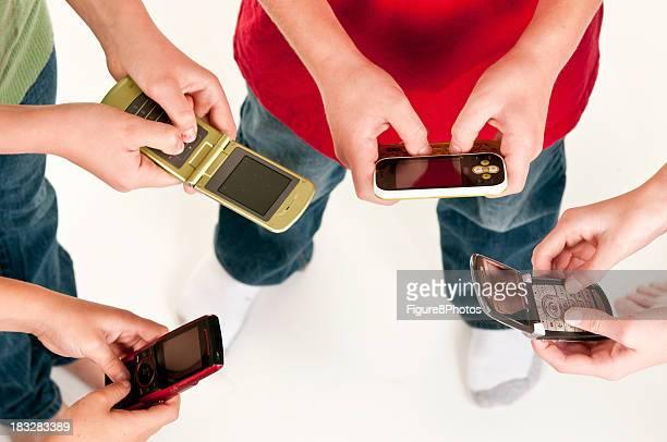 Vier Kinder SMS
