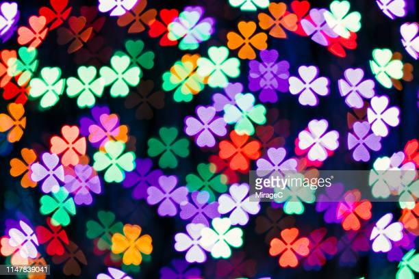 Four Leaf Clover Shape Bokeh Backdrop