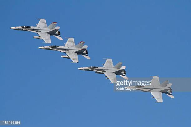CONTENT] Four McDonnell Douglas F/a18C Hornets from United States Marine Corps squadrons VMFA232 and VMFA112 help celebrate 100 years of Naval...