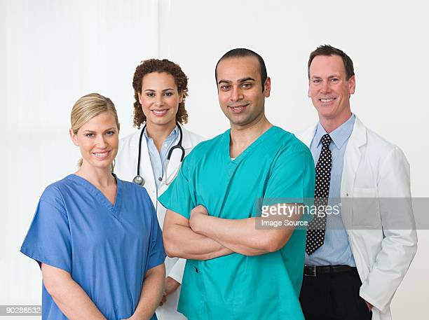 Four medical colleagues
