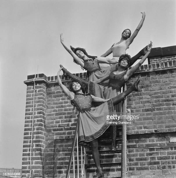 Four members of the Alvin Ailey American Dance Theater visit the UK, 2nd April 1965.