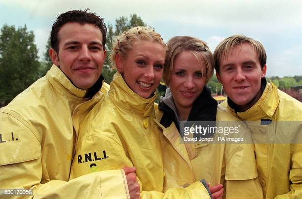 Four members of the Pop group Steps Lee Faye Claire and 'H' at Drayton Manor Theme Park near Birmingham where they launched the new Stormforce 10...