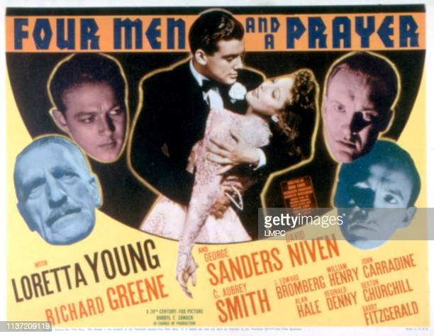 Four Men And A Prayer lobbycard C Aubrey Smith Richard Greene Loretta Young George Sanders David Niven 1938