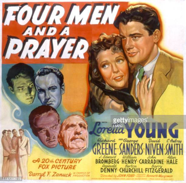Four Men And A Prayer poster Richard Greene George Sanders David Niven C Aubrey Smith 1938