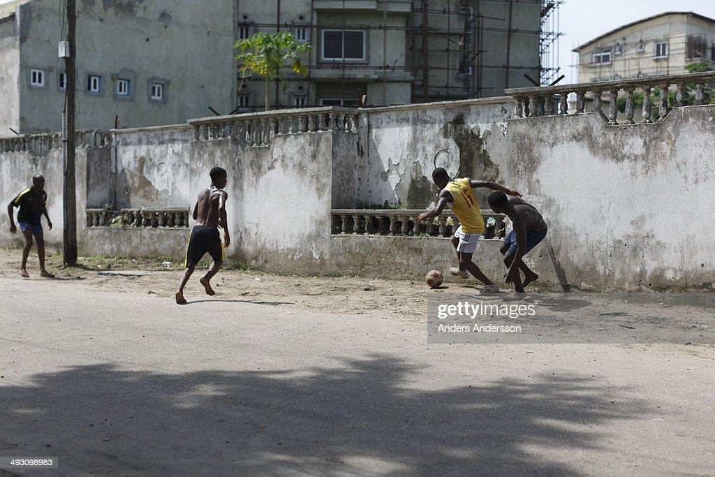 street soccer, Lagos : News Photo