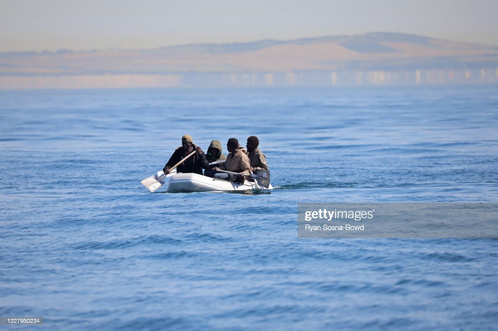 Migrants Attempt To Cross English Channel From France : News Photo