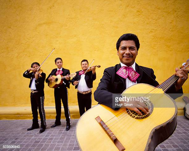 four mexican musicians, mexico - hugh sitton stock pictures, royalty-free photos & images