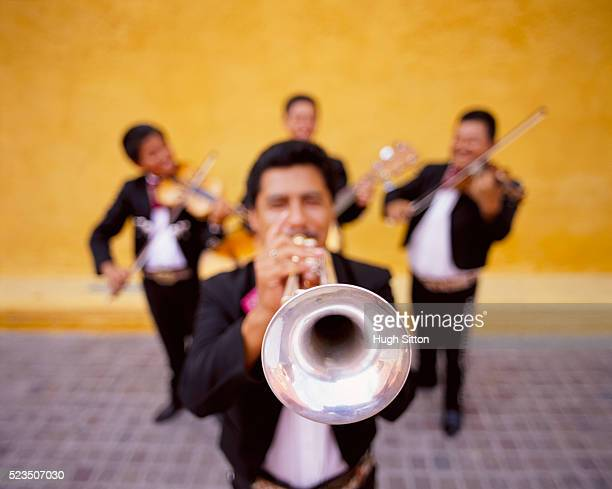 four mexican musicians, mexico - hugh sitton bildbanksfoton och bilder