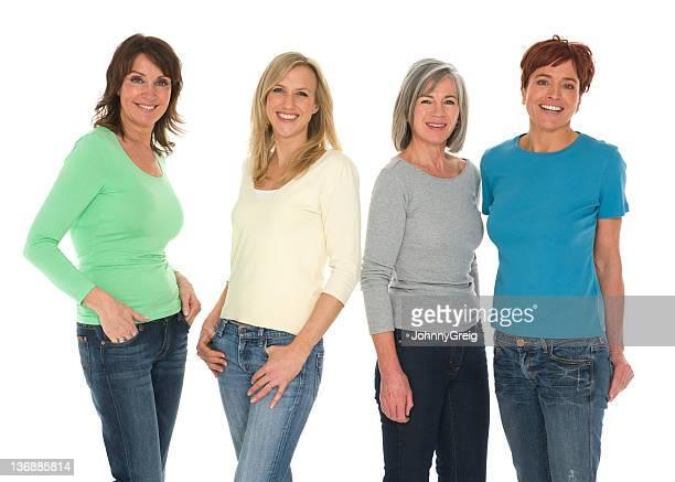 Quatre femmes différentes tranches d'âge