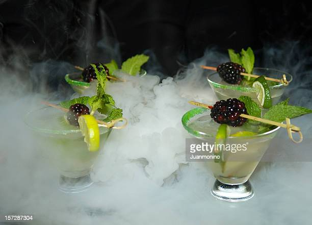 Four Mojito cocktails