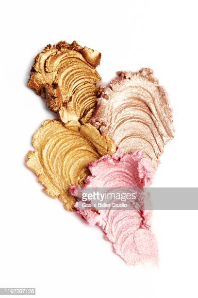 four multi colored eyeshadow pastes - champagne colored stock pictures, royalty-free photos & images