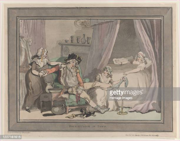 Four O'Clock in Town October 20 1790 Artist Thomas Rowlandson