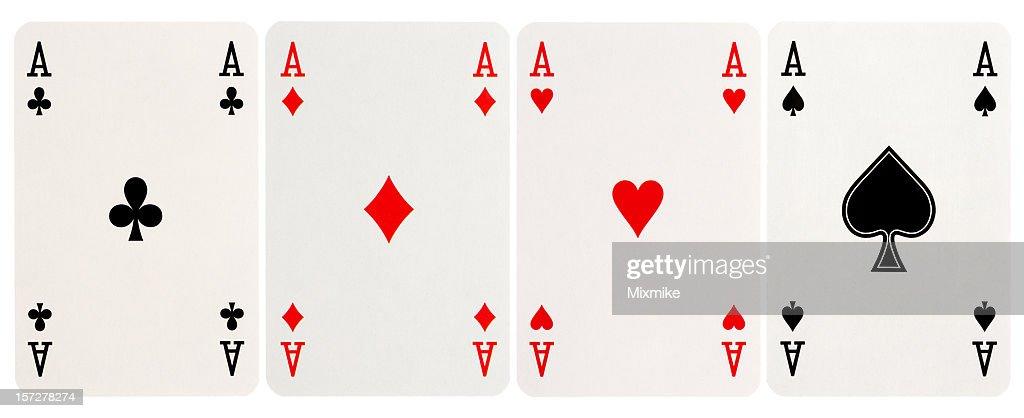Ein Viererpaar-Aces : Stock-Foto
