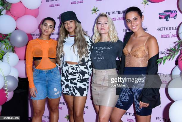 Four Of Diamonds attend the PrettyLittleThing x Maya Jama Launch Party at MNKY HSE on June 25 2018 in London England